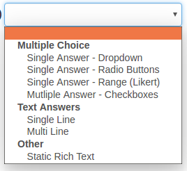 Survey Type Dropdown