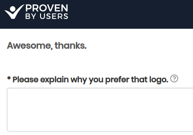 proven by users preference test survey example
